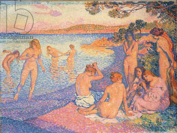 Sunset; L'heure embrasee, 1897 (oil on canvas)