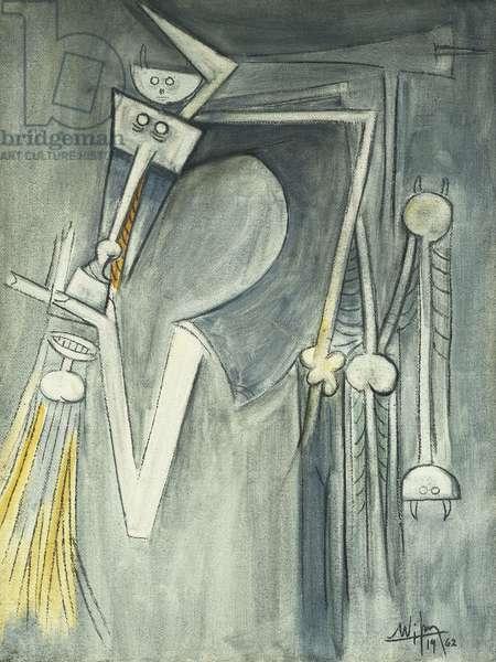 Elegua, 1962 (oil on burlap)
