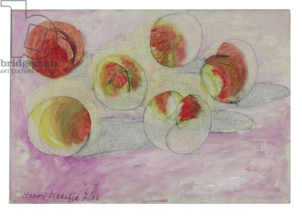 The Peaches, 1940 (oil and pencil on canvas)
