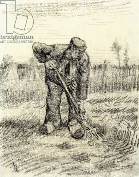Potato Gatherer, 1885 (black chalk on paper)