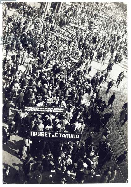Mayday Demonstration on Miasnitskaia Street, 1932 (gelatin silver print)