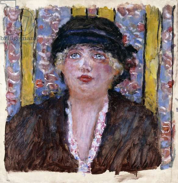 Woman in a Hat, c.1920 (oil on canvas)