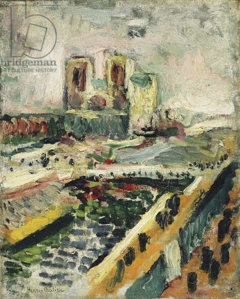 Notre-Dame, c.1900 (oil on canvas)