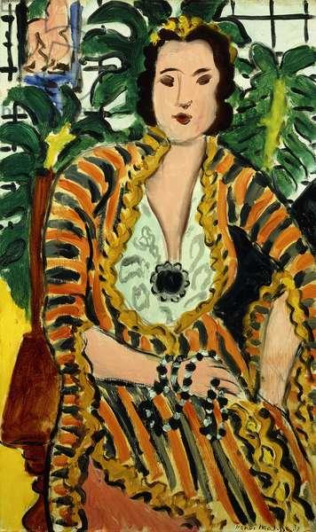 Woman with a Blue Jewel (Helene Galitzine with Gemstone); Femme au Bijou Bleu (Helene Galitzine au Cabochon), 1937 (oil on canvas)