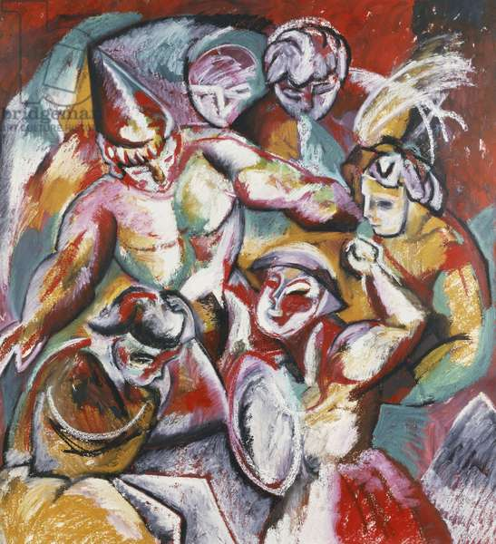 Carnival; Carnaval, 1984 (pastel and oil on paper)