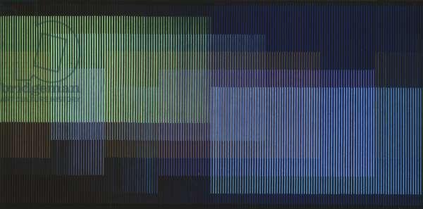 Physichromie 503, Paris, 1970 (acrylic on cardboard, plastic inserts, wood)
