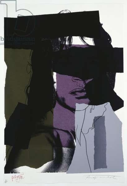 Mick Jagger, 1975 (colour screenprint)
