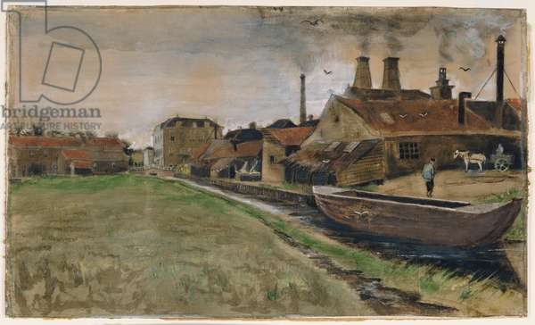 The Iron Mill in The Hague, 1882 (gouache, w/c, wash, pen and India ink, pencil on paper)