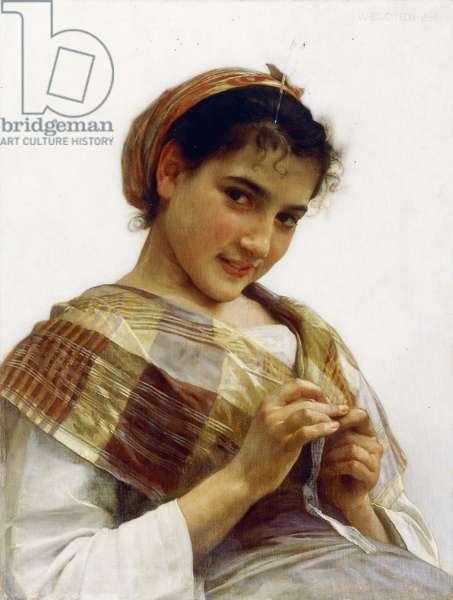 A Breton Girl, 1889 (oil on canvas)