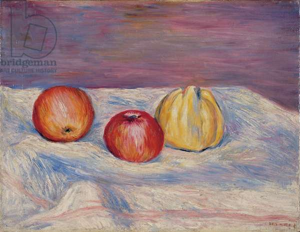 Two Apples and a Quince; Deux pommes et un coing, c.1900 (oil on canvas)