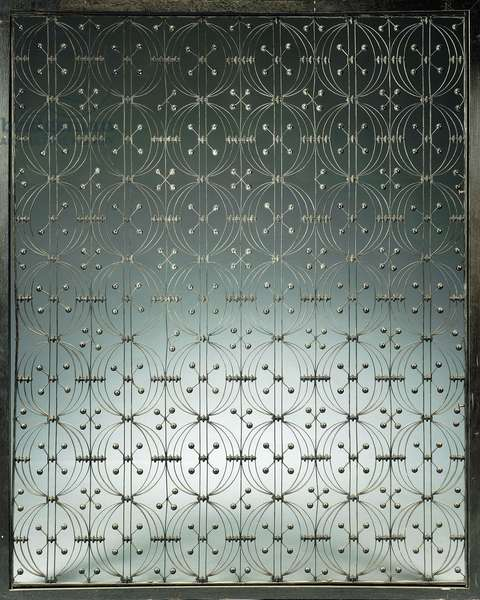 An elevator grille, c.1893 (wrought-iron)