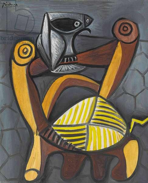 Le hibou sur la chaise, 1947 (oil on canvas)
