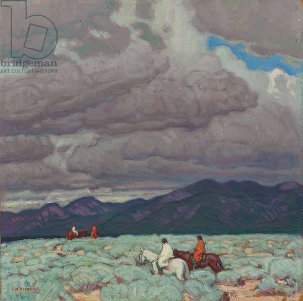 Clouds, Mountains and Sage, c.1922 (oil on board)