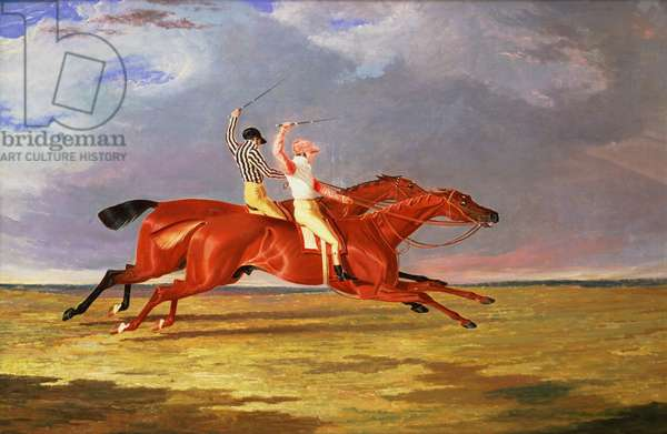 """""""Acteon"""" beating """"Memnon"""" in the Great Subscription Purse at York, August 1826"""