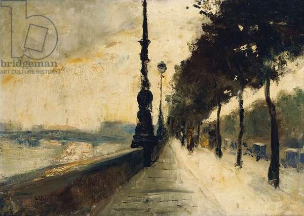 The Embankment, London; Der Uferdamm, London, 1926 (oil on canvas)