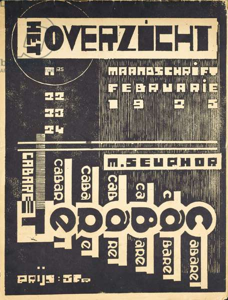 Cover for the magazine 'Het Overzicht', c. 1921-1925 (lithograph)