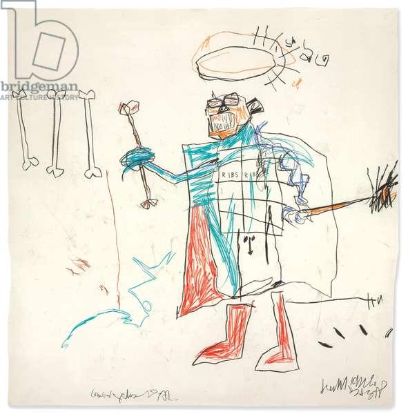 Ribs Ribs, 1982 (oilstick on paper)