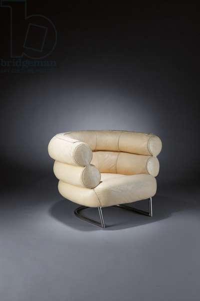 Bibendum club chair, c.1926-30 (chromed tubular steel & fabric)