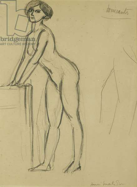 Young Girl Standing; Jeune Fille Debout, c. 1908-10 (pencil on paper)