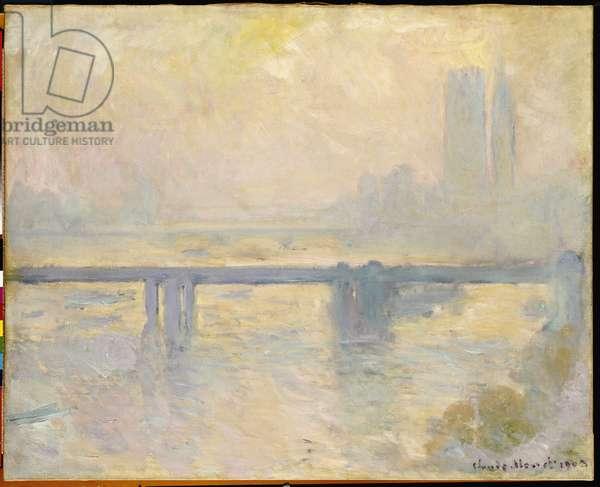 Charing Cross Bridge, 1903 (oil on canvas)
