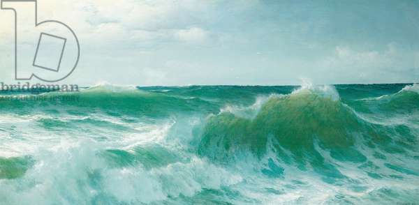 A breaking wave, 1894 (oil on canvas)