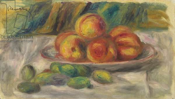 Peaches and Almonds (oil on canvas)