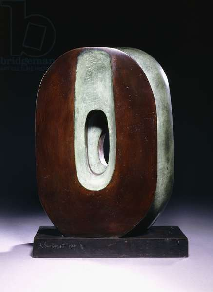 Maquette for Dual Form, 1966 (bronze with a green and brown patina)