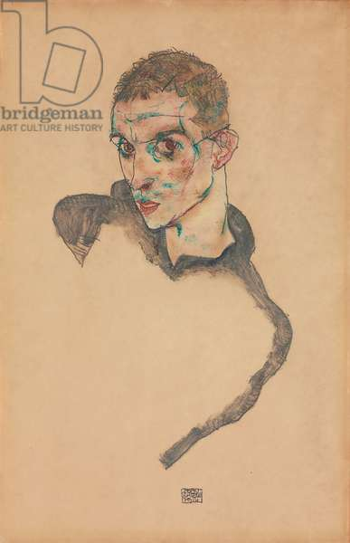 Self Portrait; Selbstbildnis, 1914 (gouache, watercolour and pencil on paper)
