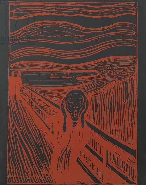 The Scream (after Munch), 1983 (silkscreen ink on Lenox Museum board)