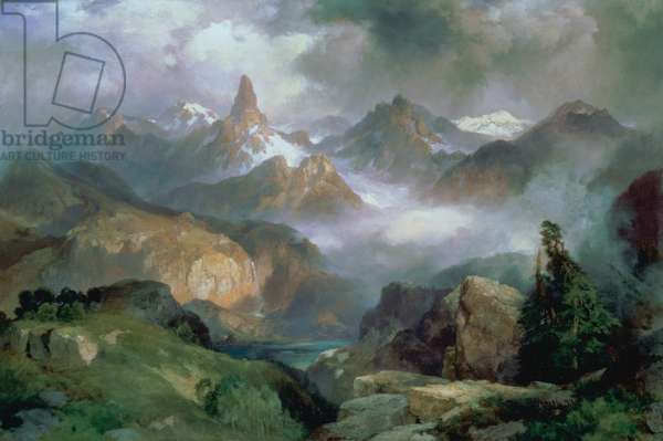 Index Peak, Yellowstone National Park, 1914 (oil on canvas)
