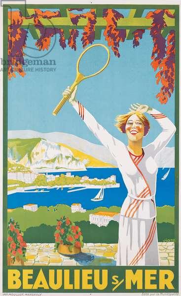Advertising poster for Beaulieu-sur-Mer, c.1925 (colour lithograph)