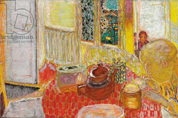 The Breakfast; Le petit dejeuner, 1936 (oil on canvas)