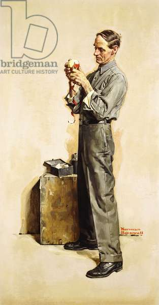 The Apple Peeler (Hair Splitter Evans), 1927 (oil on canvas)