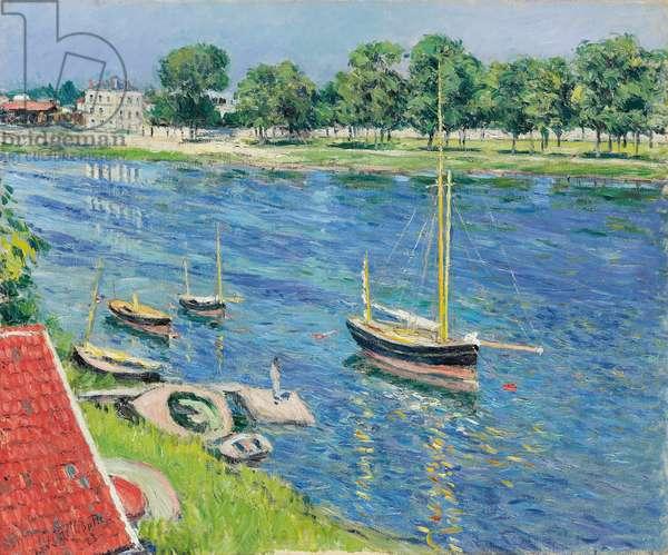 The Seine at Argenteuil, Boats at Anchor; La Seine a Argenteuil, bateaux au mouillage, 1883 (oil on canvas)