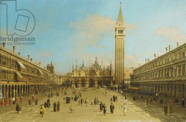 The Piazza San Marco, Venice, looking East,  (oil on canvas)
