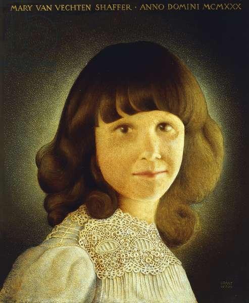 Portrait of Mary Van Vechten Schaffer, 1930 (oil on panel)