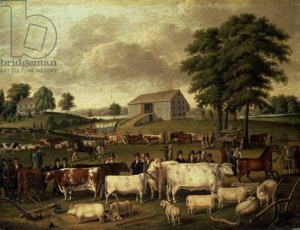 A Pennsylvania Country Fair, 1824 (oil on canvas)