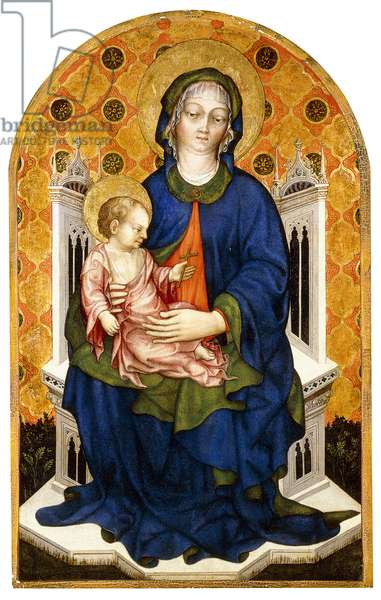 The Madonna and Child Enthroned,  (tempera on panel)