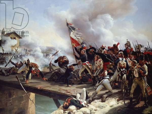 The Battle of Pont d'Arcole, 1826 (oil on canvas)