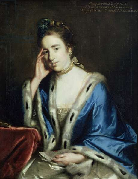 Portrait of Charlotte Walsingham, 1760 (oil on canvas)