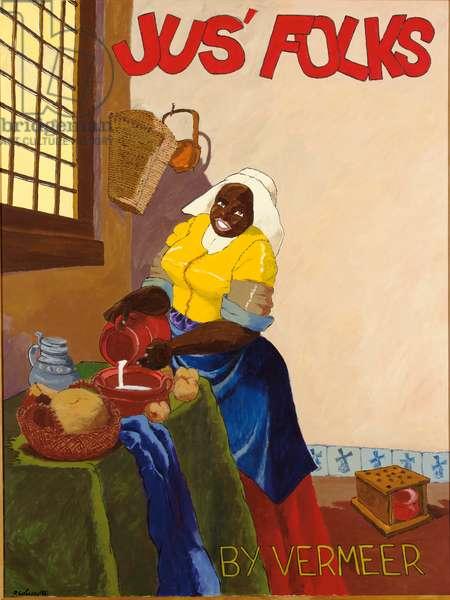Jus' Folks by Vermeer, 1976 (acrylic on canvas)