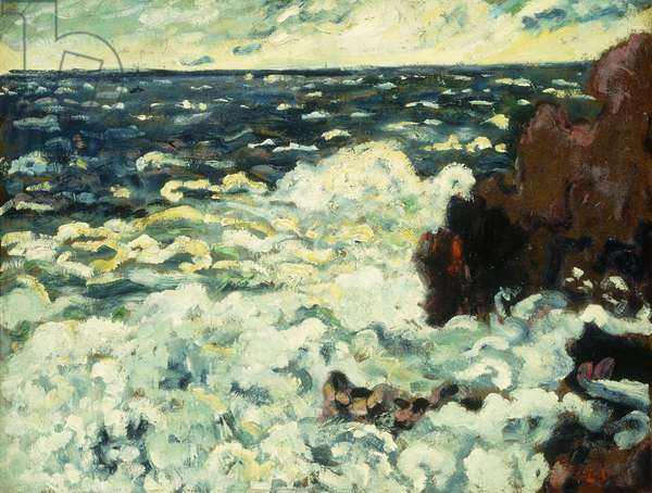 Les Vagues, 1909 (oil on board laid down on canvas)
