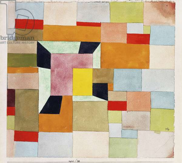 Split Coloured Rectangles; Aufgeteilte Farbvierecke, 1921 (watercolour and pencil on paper)