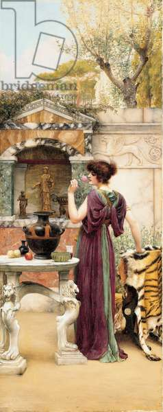 At the Garden Shrine, Pompeii, 1892 (oil on canvas)