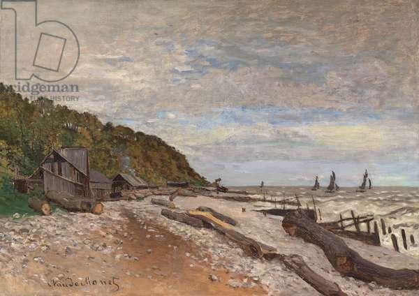 Boatyard Near Honfleur; Le Chantier de Petits Navires, pres de Honfleur, 1864 (oil on canvas)