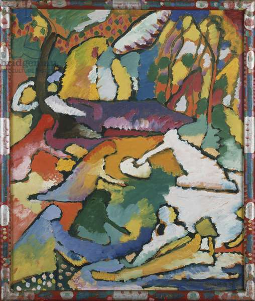 Sketch for 'Composition II', 1910 (oil on board)