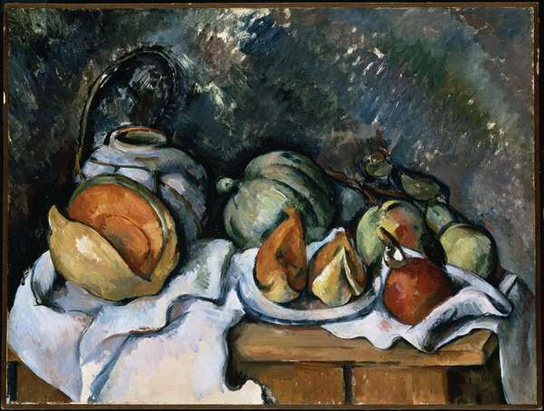 Still Life with Fruit and a Ginger Pot, c.1895 (oil on canvas)