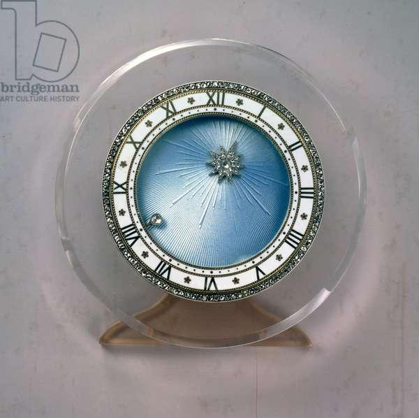 Art Deco planetary desk clock, by Cartier