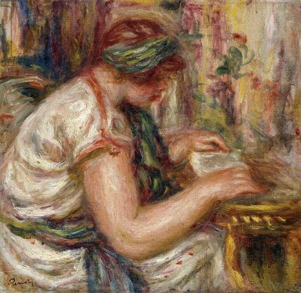 Woman in Arabic Dress Reading; Femme en Blouse arabe lisant, 1919 (oil on canvas)