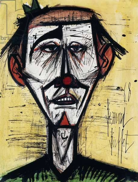 Le Clown, 1968 (gouache with brush and black ink on paper)